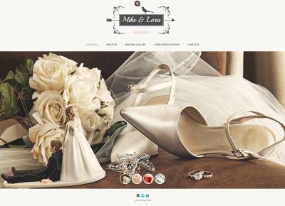 Plantilla Web #47762 para Sitio de  para Sitio de Álbumes de bodas