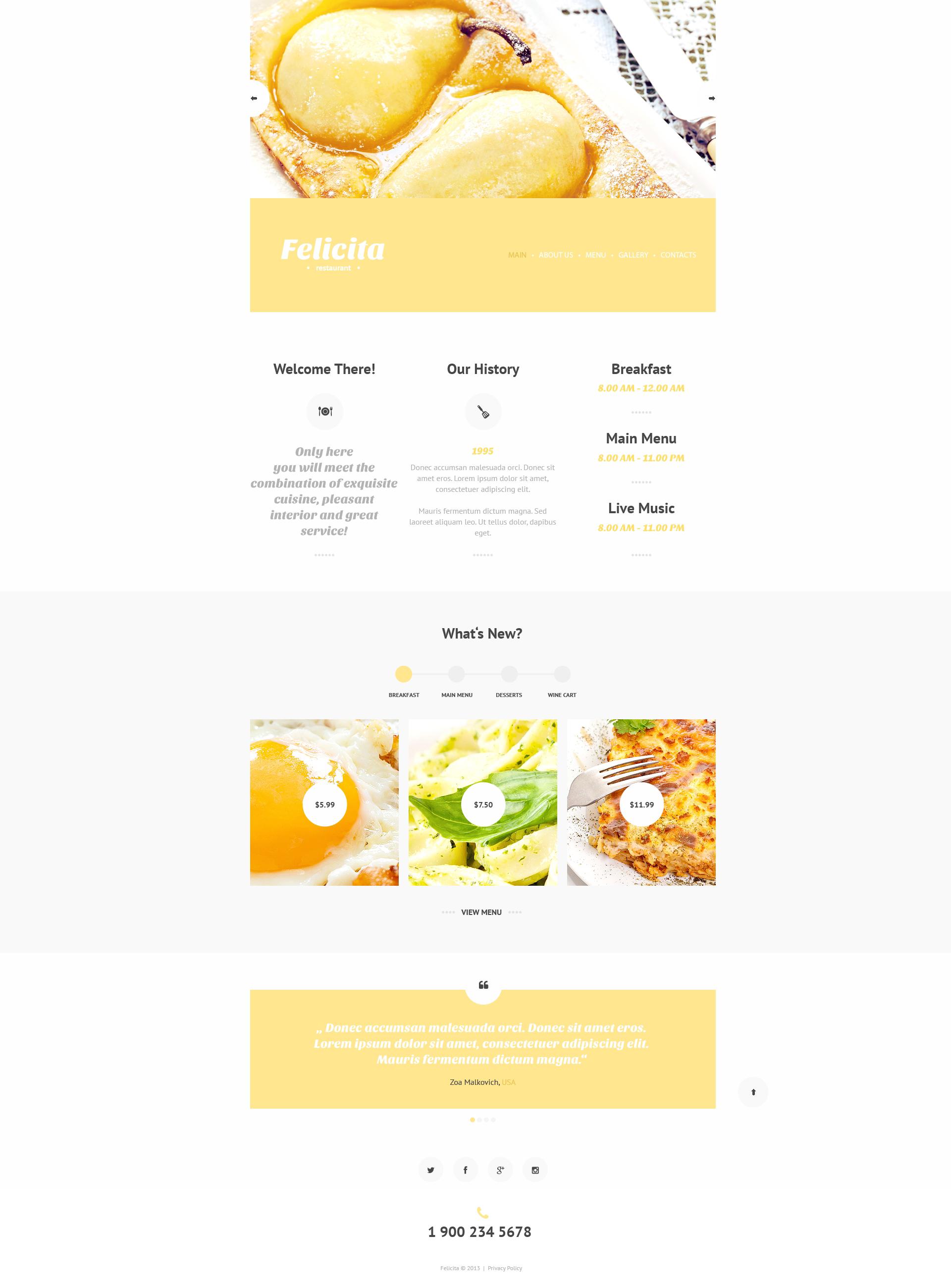 Plantilla web 47750 para sitio de restaurantes franc ses for Tipos de restaurantes franceses