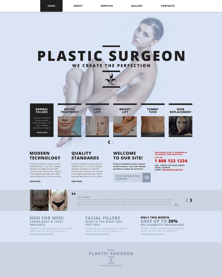 Plastic Surgery Responsive Website Template New Screenshots BIG