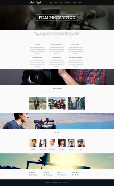 Videographer Moto CMS HTML Template