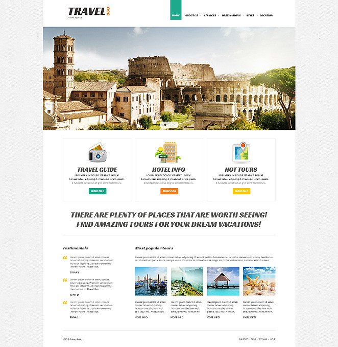 Proper Travel Joomla Template New Screenshots BIG