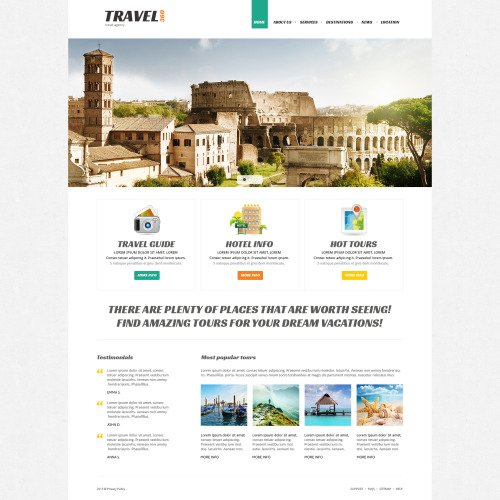 Travel360 - Joomla! Template based on Bootstrap