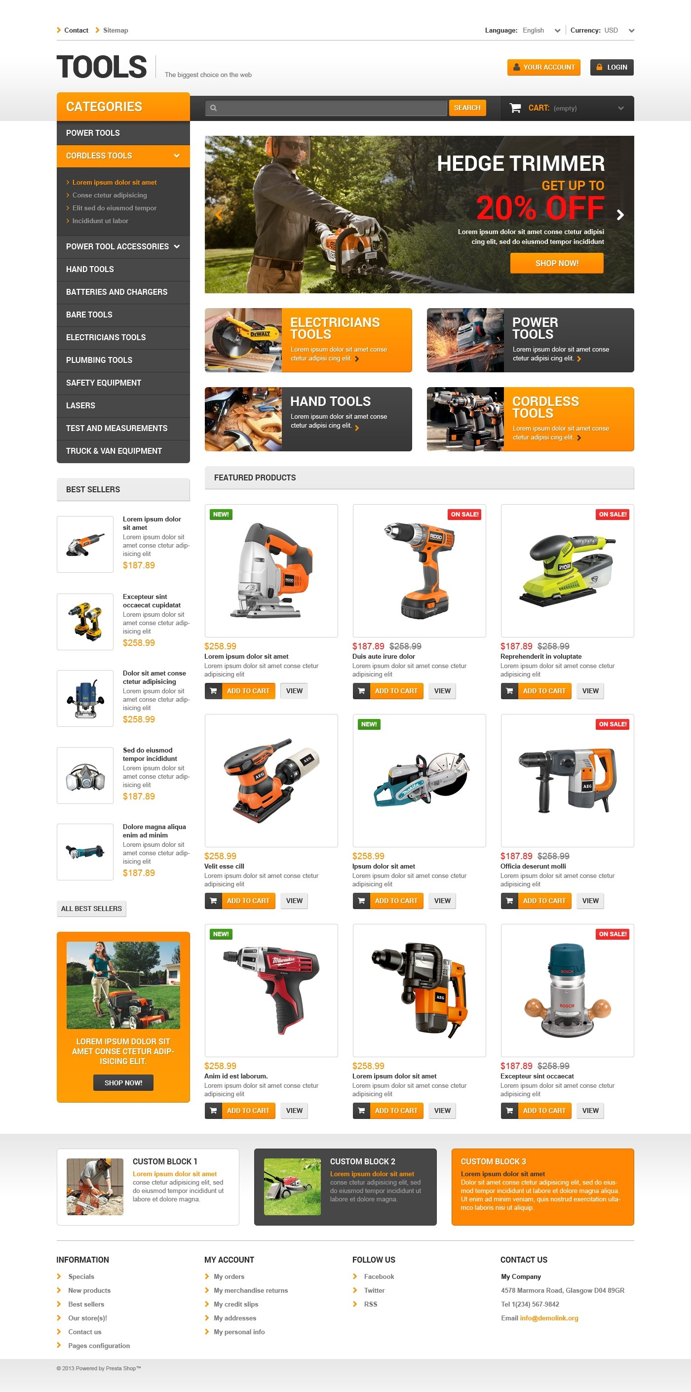 Quality tools prestashop theme 47799 quality tools prestashop theme flashek Image collections