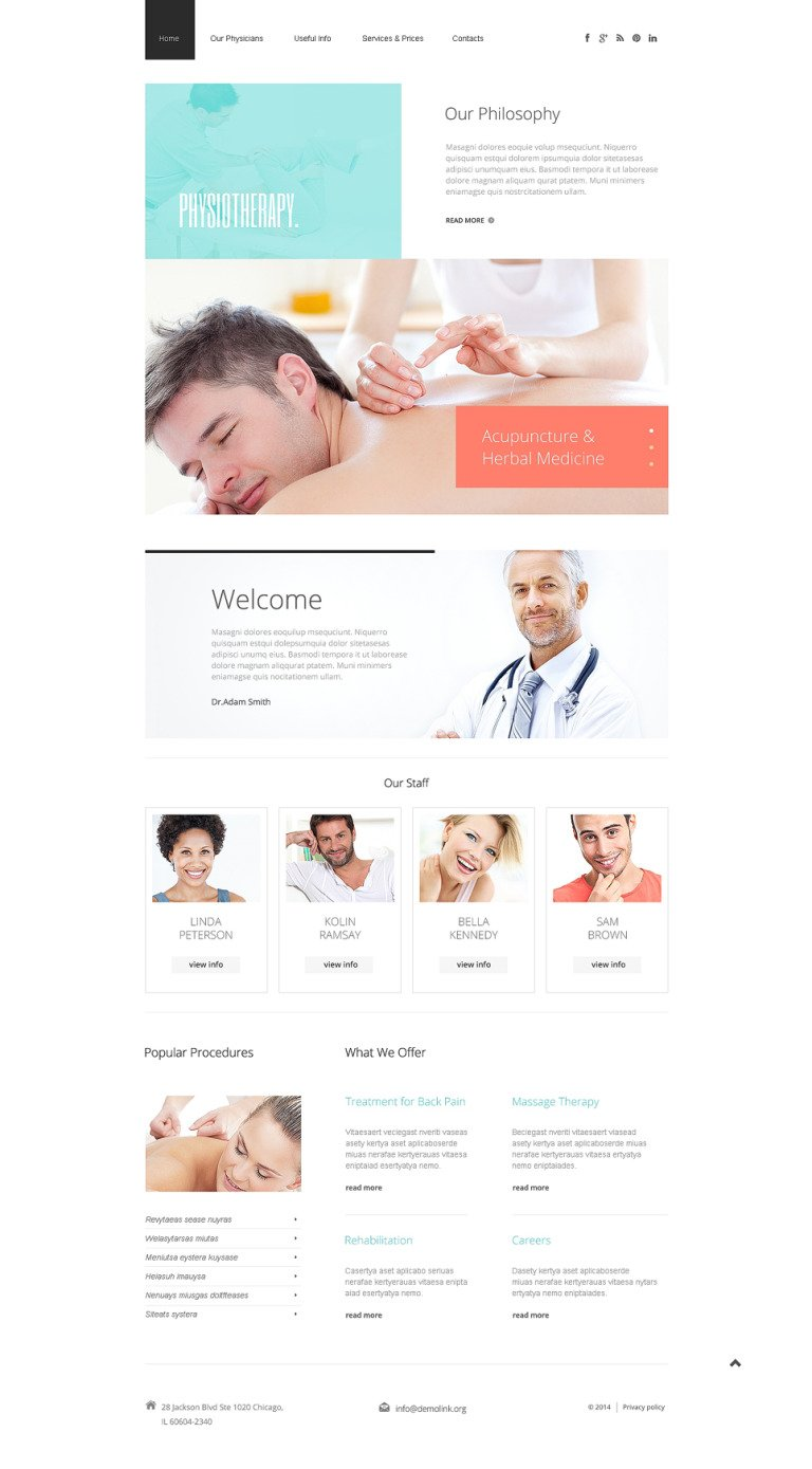 Rehabilitation Responsive Website Template New Screenshots BIG