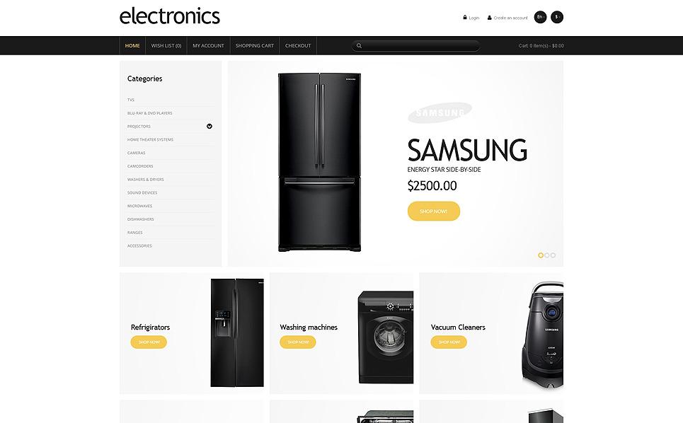 Responsive OpenCart Vorlage für  Elektronikgeschäft New Screenshots BIG