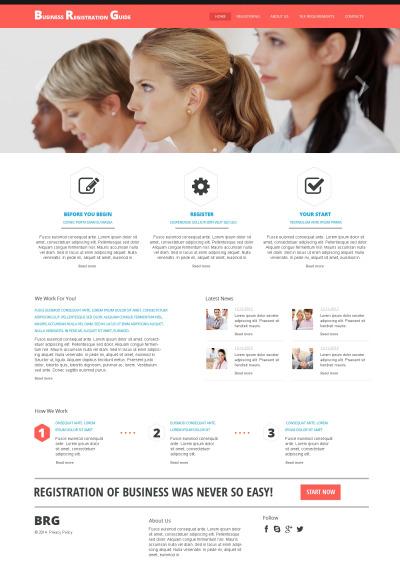 Responsive Website Vorlage für Führungsgesellschaft
