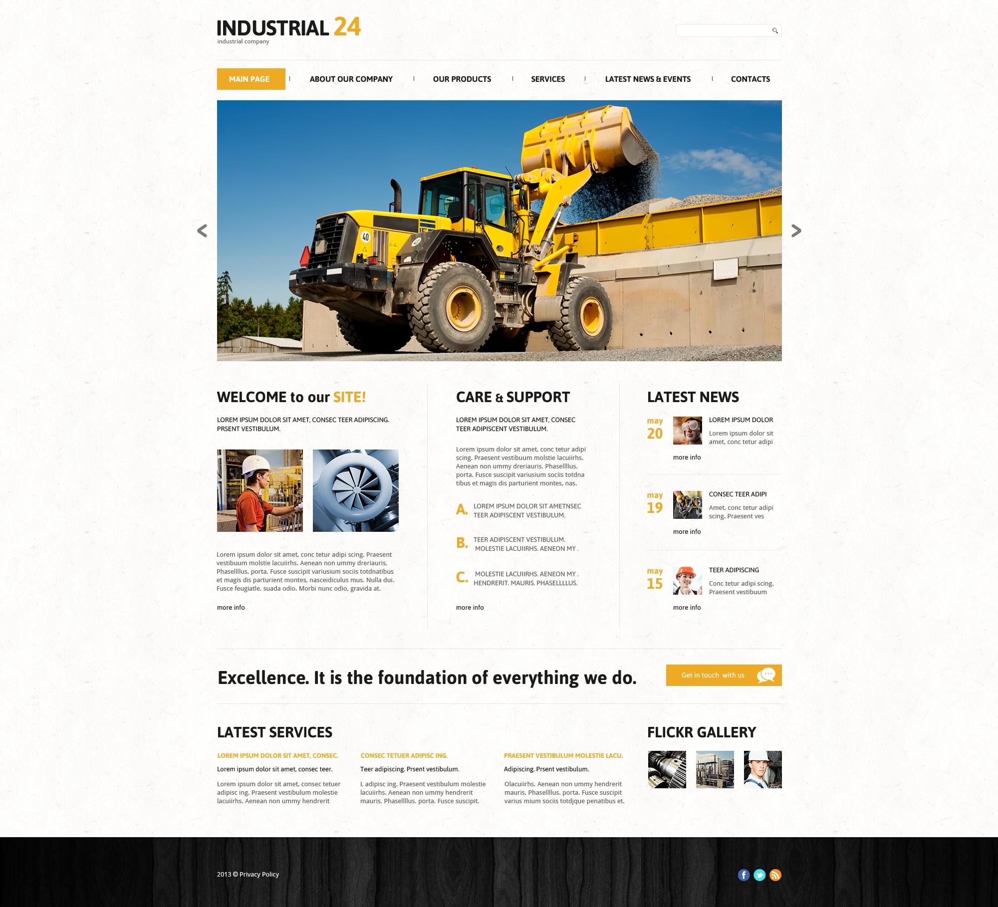 Responsive WordPress thema over Industriële №47711 - screenshot