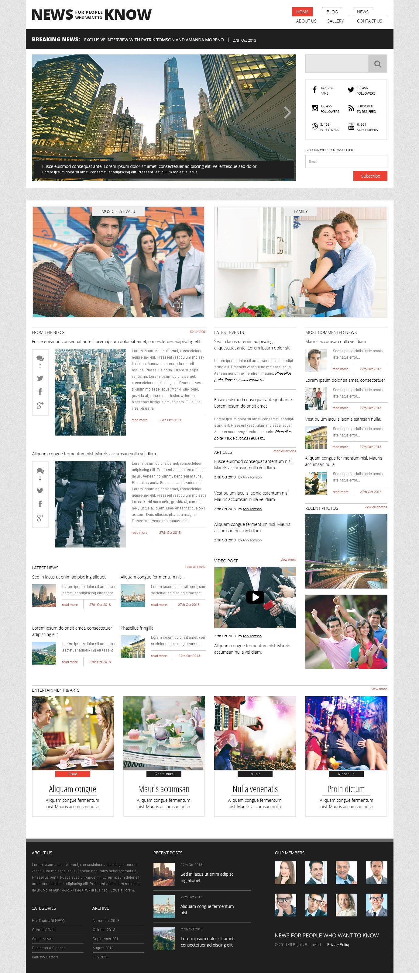 Responsive WordPress thema over Nieuws website №47781 - screenshot