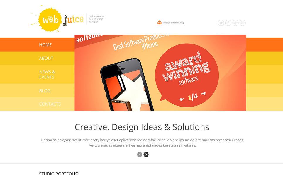 Reszponzív Web design  WordPress sablon New Screenshots BIG