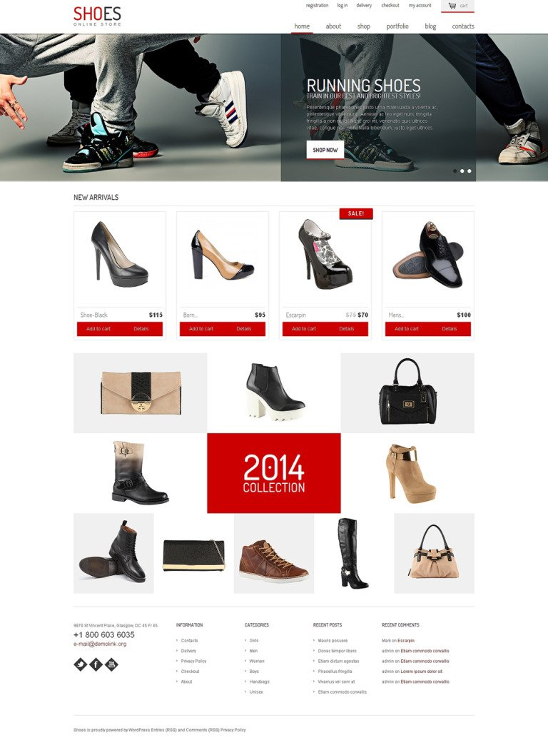 Shoe Store Responsive WooCommerce Theme New Screenshots BIG