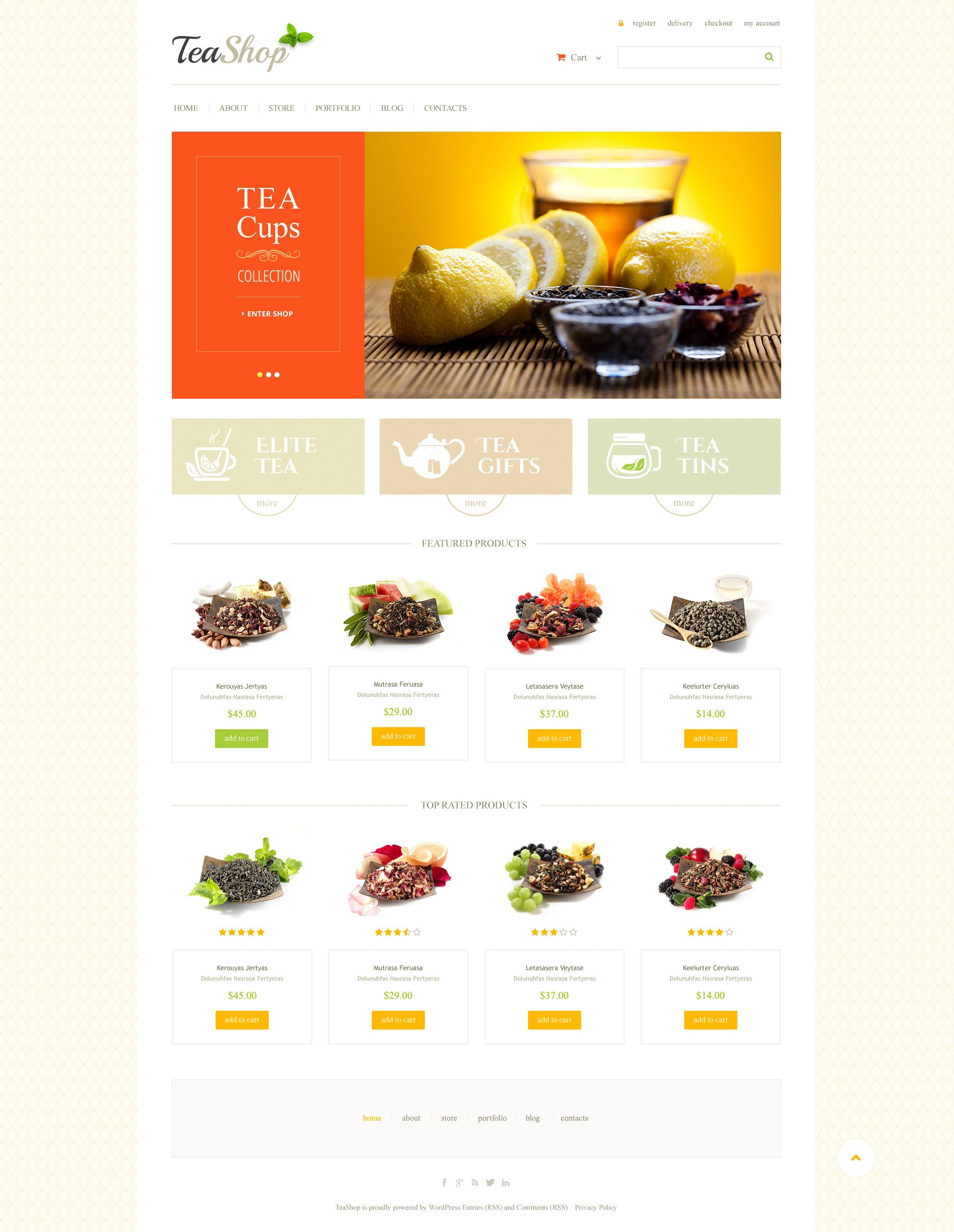 Tea Shop WooCommerce Theme #47752