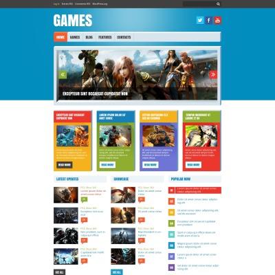 Tema de WordPress #47780 para Sitio de Juegos Flash