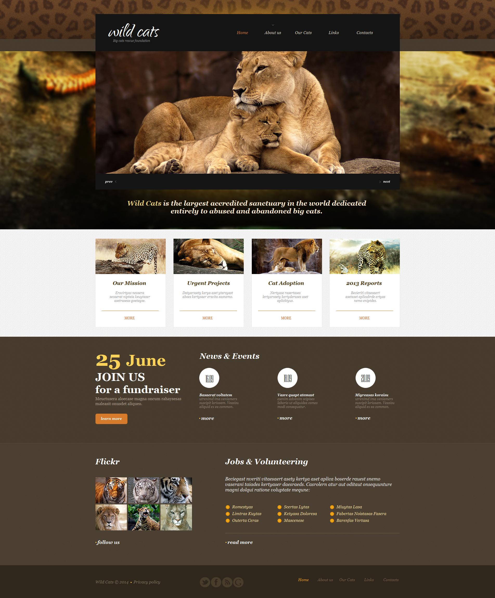 Tema Moto CMS HTML #47739 per Un Sito di Animali Selvaggi