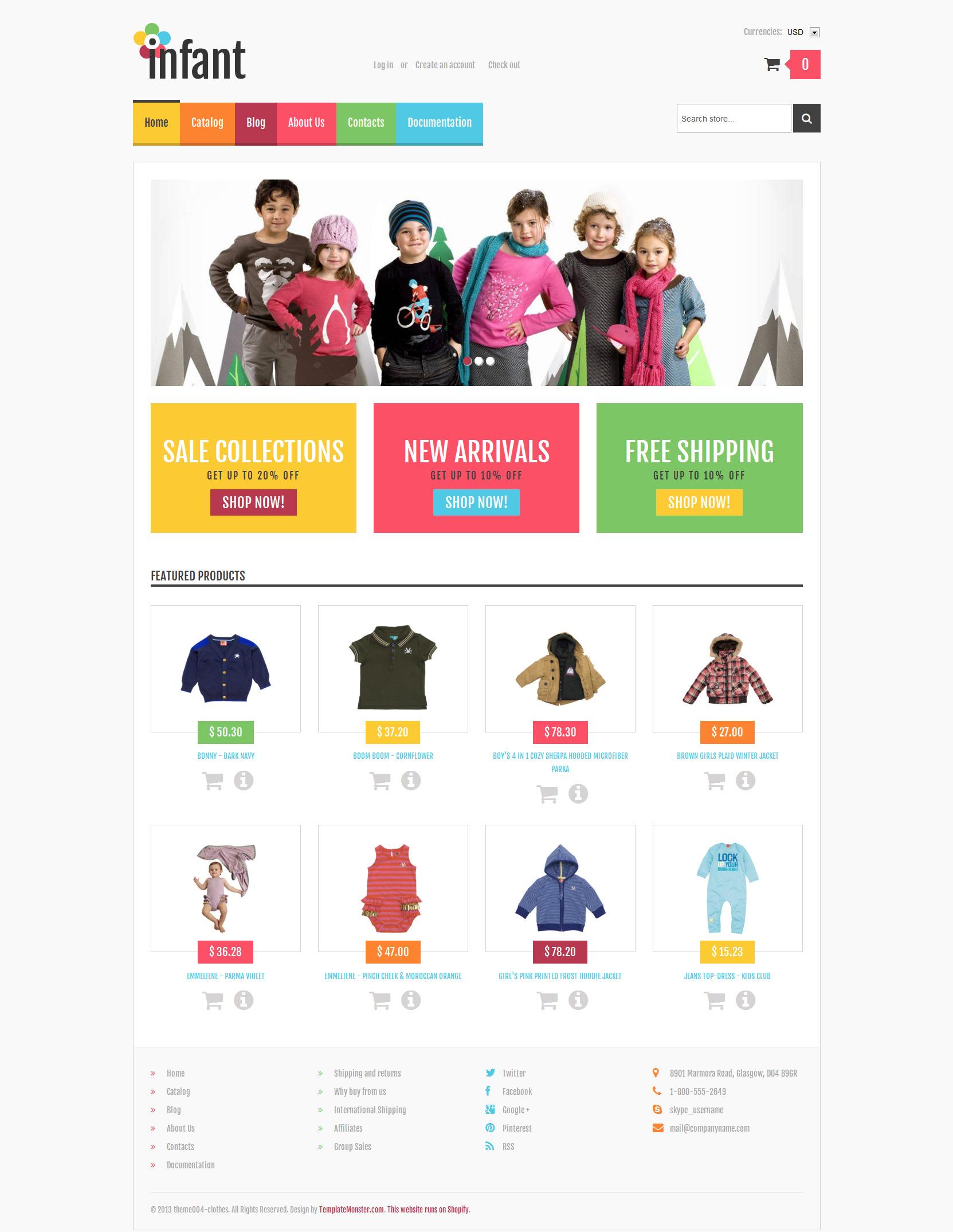 Tema Shopify Responsive para Sitio de Recién nacidos #47702