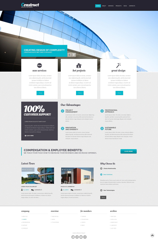 Template Drupal Flexível para Sites de Arquitetura №47755
