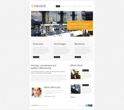 Template Moto CMS HTML №47736 para Sites de Industrial