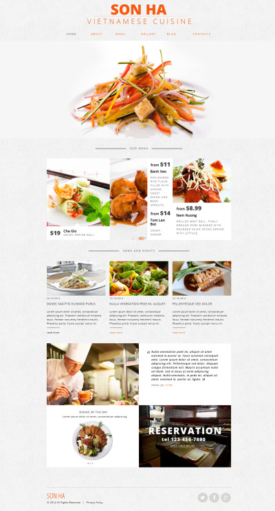 Flexível template Web №47748 para Sites de Restaurante Vietnamita