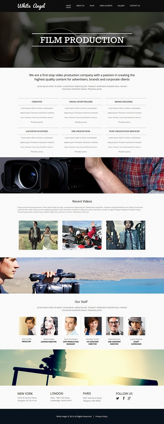 Videographer Moto CMS HTML Template New Screenshots BIG