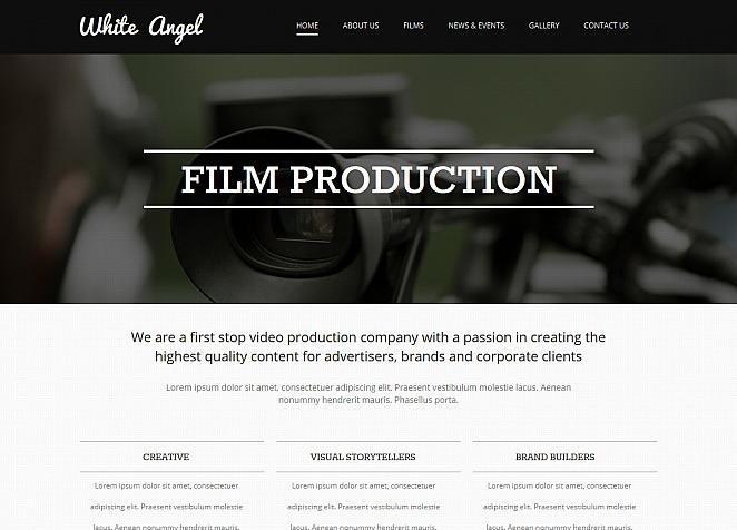 Videographer Moto CMS HTML Template #47732