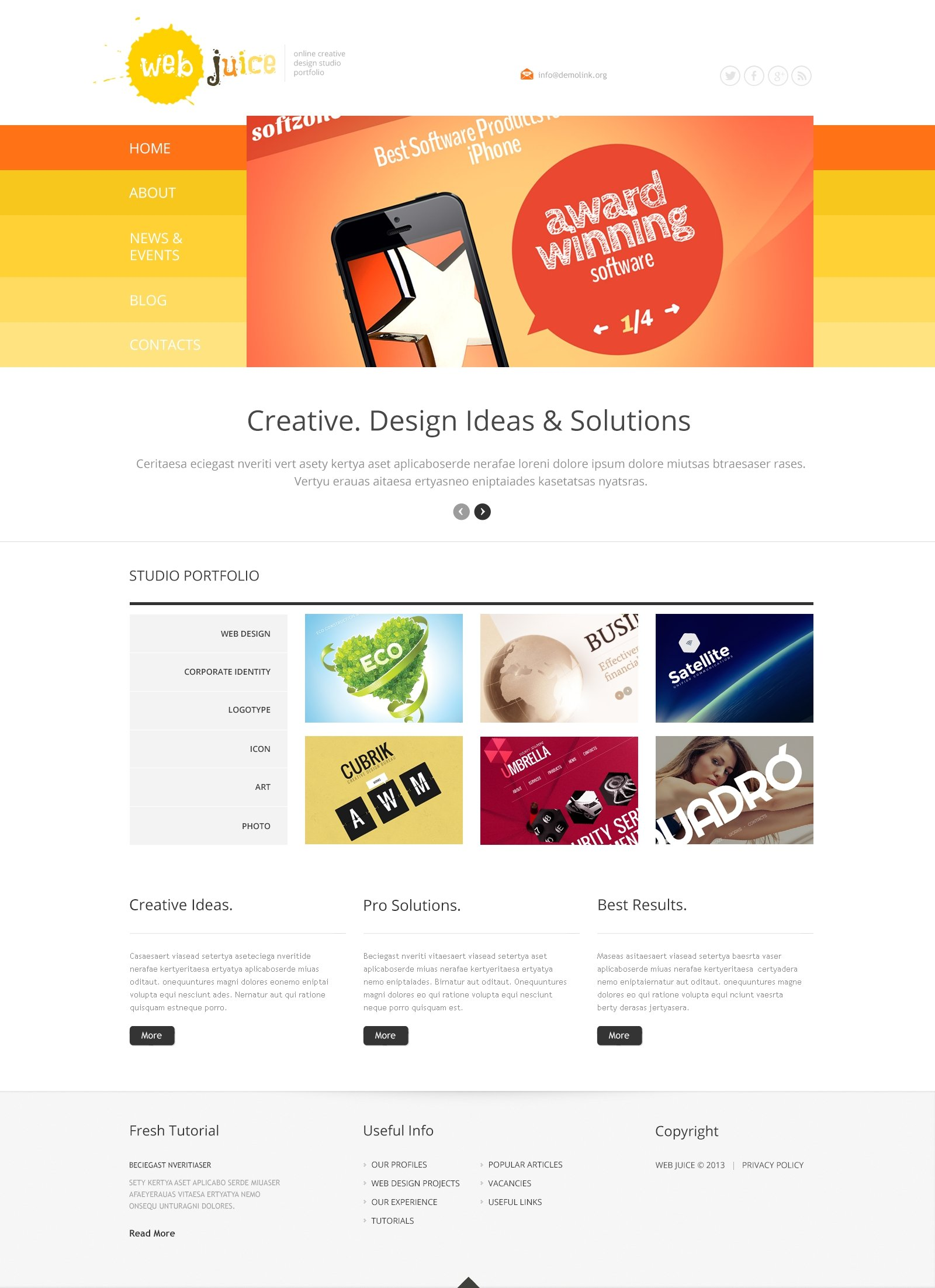 Web Design Responsive WordPress Theme - screenshot