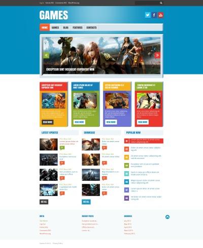 Адаптивный WordPress шаблон №47780 на тему flash игры