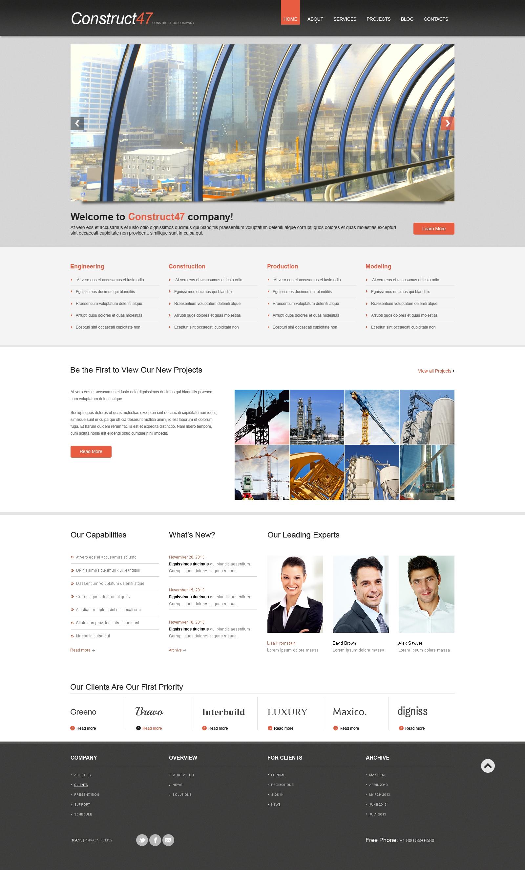 WordPress Theme #47788 für Baufirma