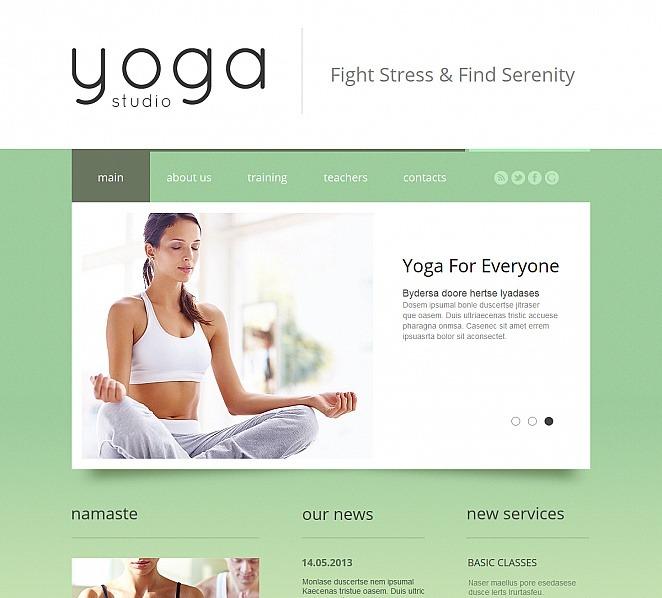 Premium Moto CMS HTML Template over Yoga New Screenshots BIG
