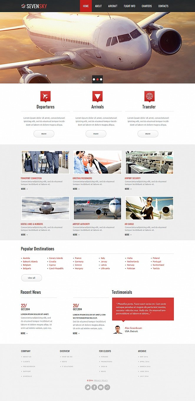 Airport Website Template with Image Slider and Photo Gallery - image