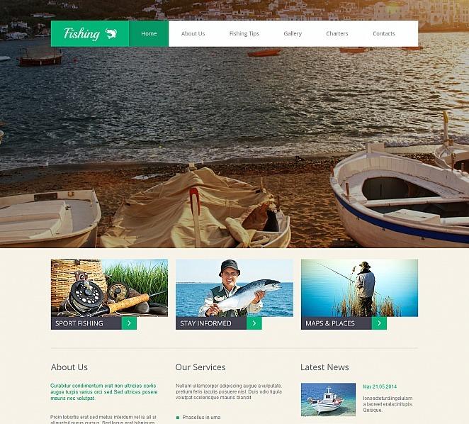 Premium Moto CMS HTML Template over Visserij  New Screenshots BIG