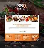 Cafe & Restaurant Moto CMS HTML  Template 47813