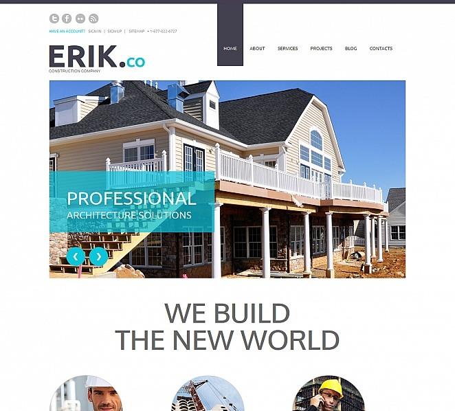 Prémium Építőipari vállalatok Moto CMS HTML sablon New Screenshots BIG