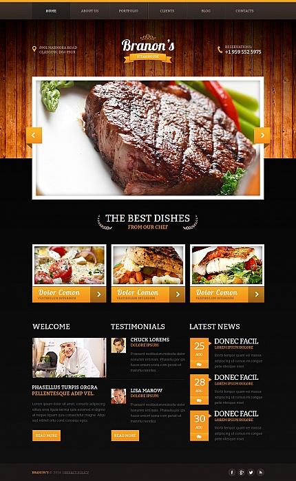 ADOBE Photoshop Template 47824 Home Page Screenshot