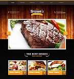 Cafe & Restaurant Moto CMS HTML  Template 47824