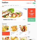 Food & Drink ZenCart  Template 47826