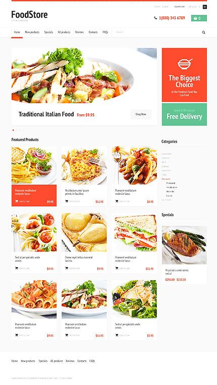 ZenCart Template 47826 Main Page Screenshot