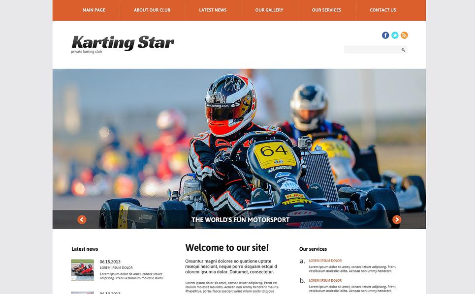 Reszponzív Gokartozás WordPress sablon New Screenshots BIG