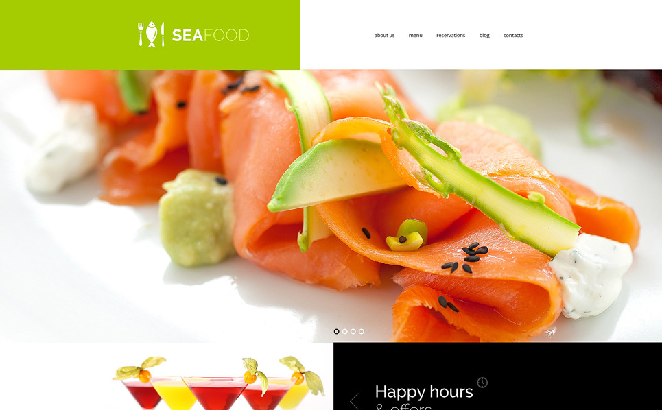 Plantilla Web Responsive para Sitio de Restaurante de mariscos New Screenshots BIG