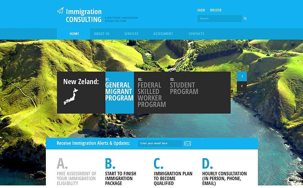 Responzivní Šablona webových stránek na téma Poradenství v oboru imigrace New Screenshots BIG