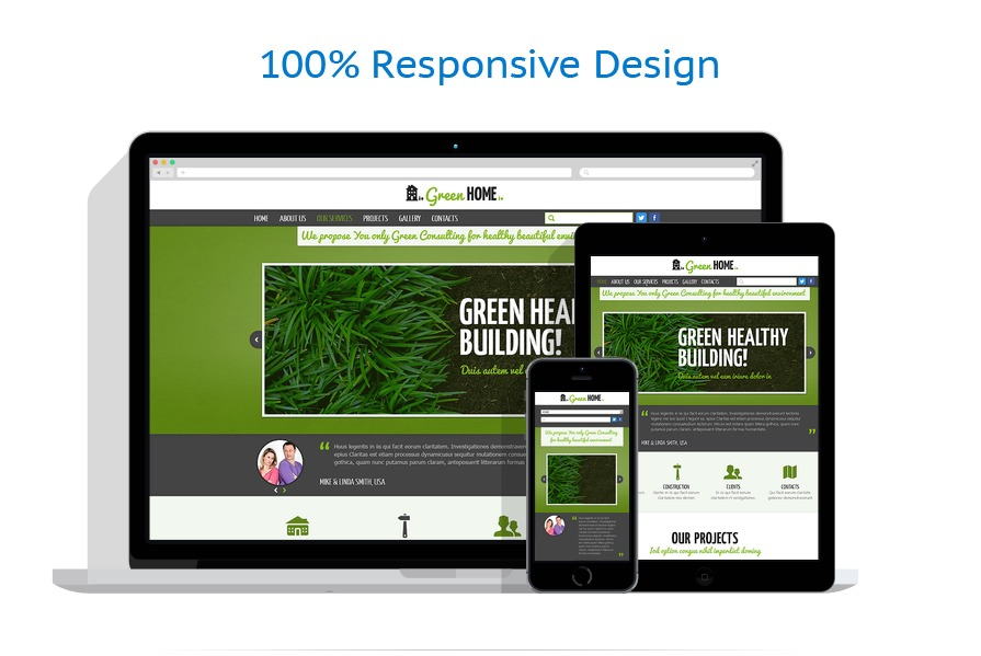 Exterior design website template 47844 for Exterior design templates