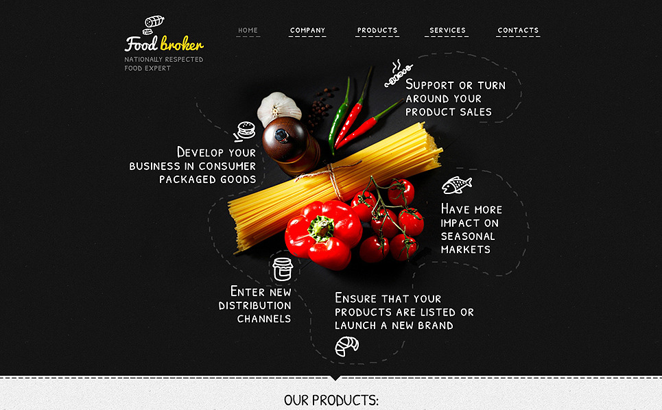 Responsive Website Vorlage für Lebensmittelgeschäft  New Screenshots BIG