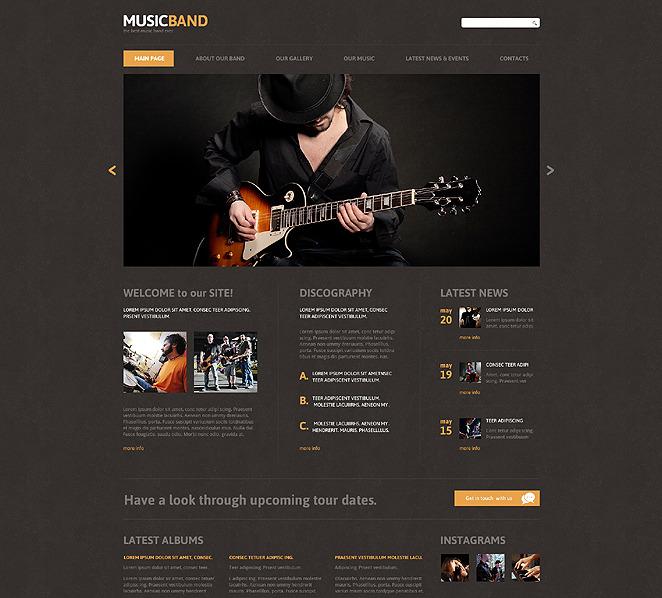 Responsive Joomla Template over Muziekgroup  New Screenshots BIG