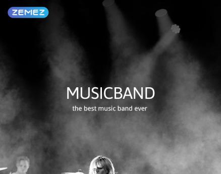 Musicband - Music Band Stylish Joomla Template