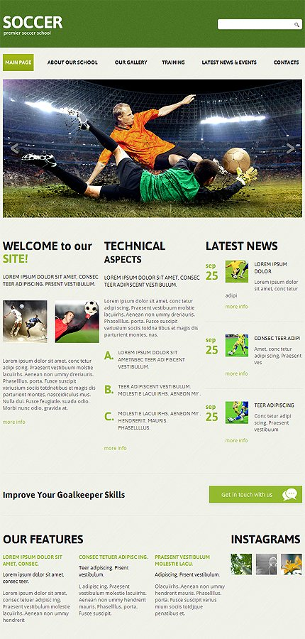 Joomla Theme/Template 47852 Main Page Screenshot