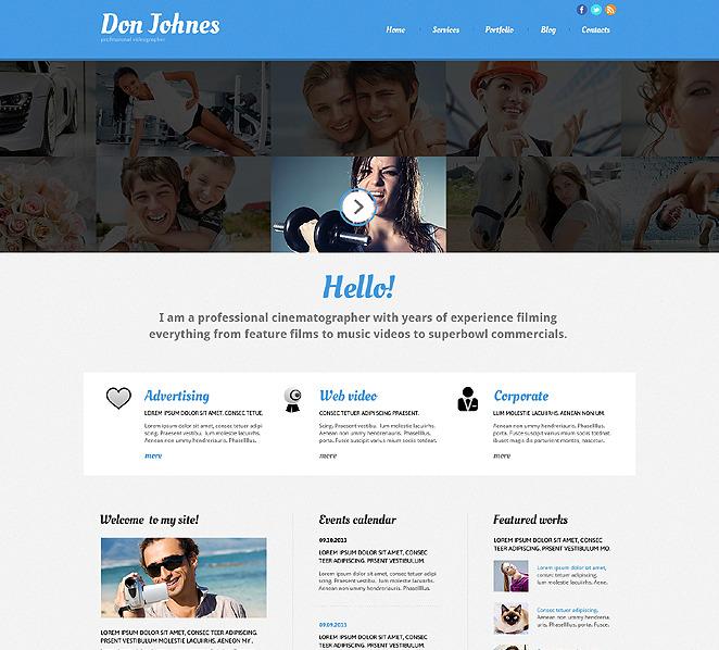 Thème Joomla adaptatif  pour portfolio de photographe New Screenshots BIG