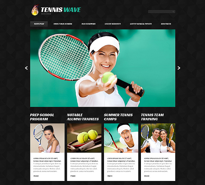 Responsive Tenis  Joomla Şablonu New Screenshots BIG