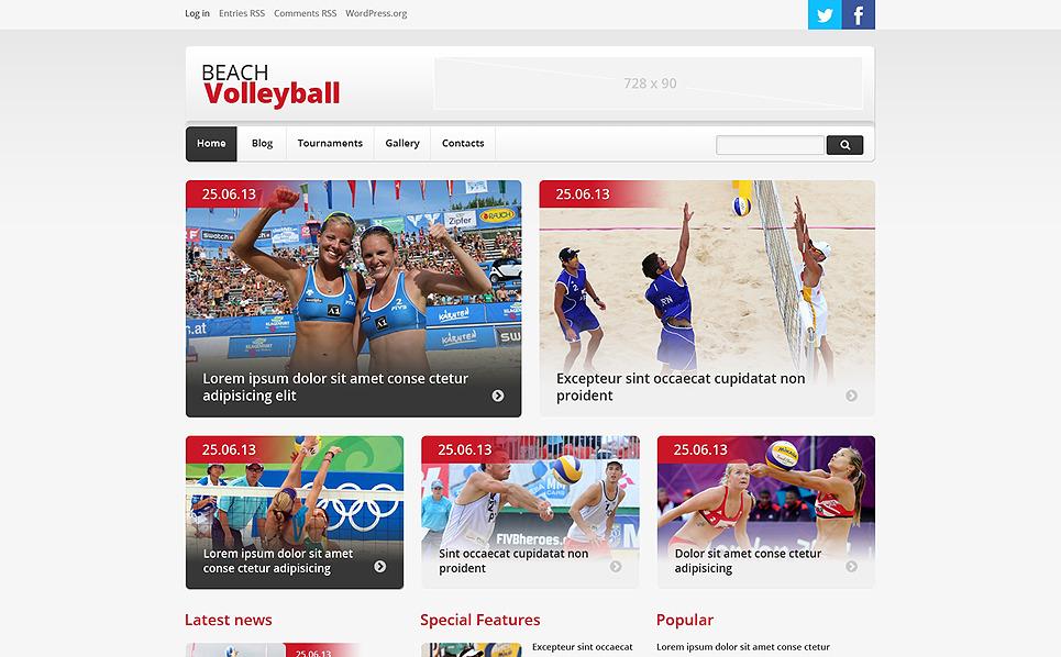Reszponzív Röplabda WordPress sablon New Screenshots BIG