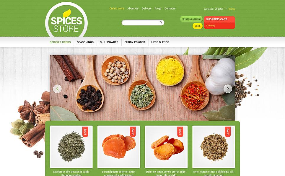 Plantilla VirtueMart #47862 para Sitio de Tienda de especias New Screenshots BIG