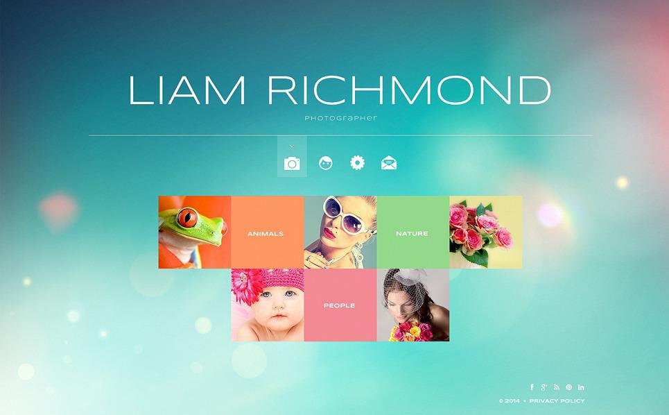 Responsywny szablon strony www #47865 na temat: portfolio fotograficzne New Screenshots BIG