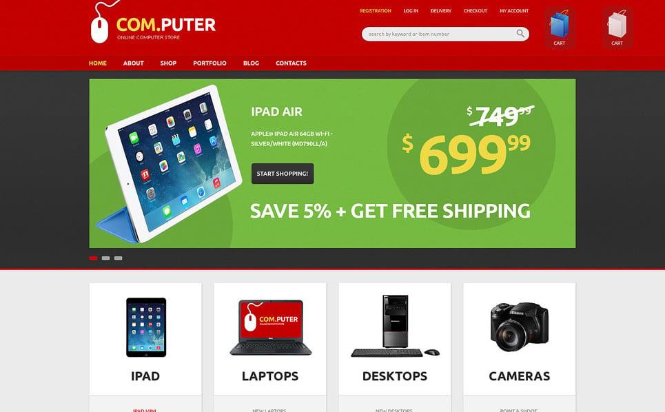 Reszponzív Számítástechnikai üzletek WooCommerce sablon New Screenshots BIG