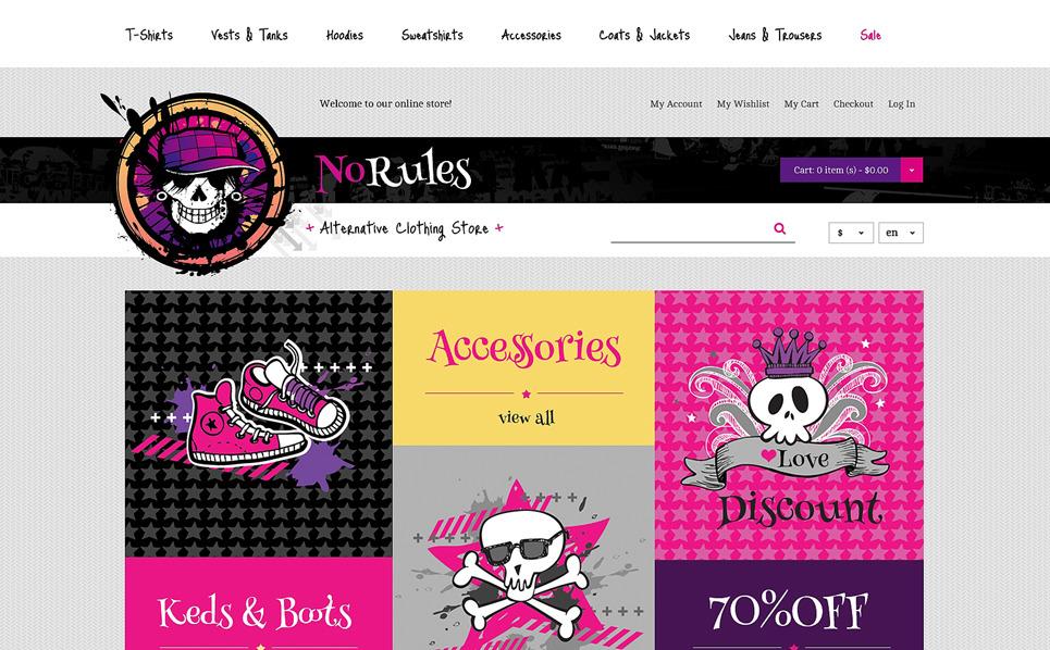 Thème Magento adaptatif  pour site de vêtements New Screenshots BIG